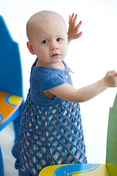 Gifts to crochet for baby, baby dress crochet pattern from Banana Moon Studio