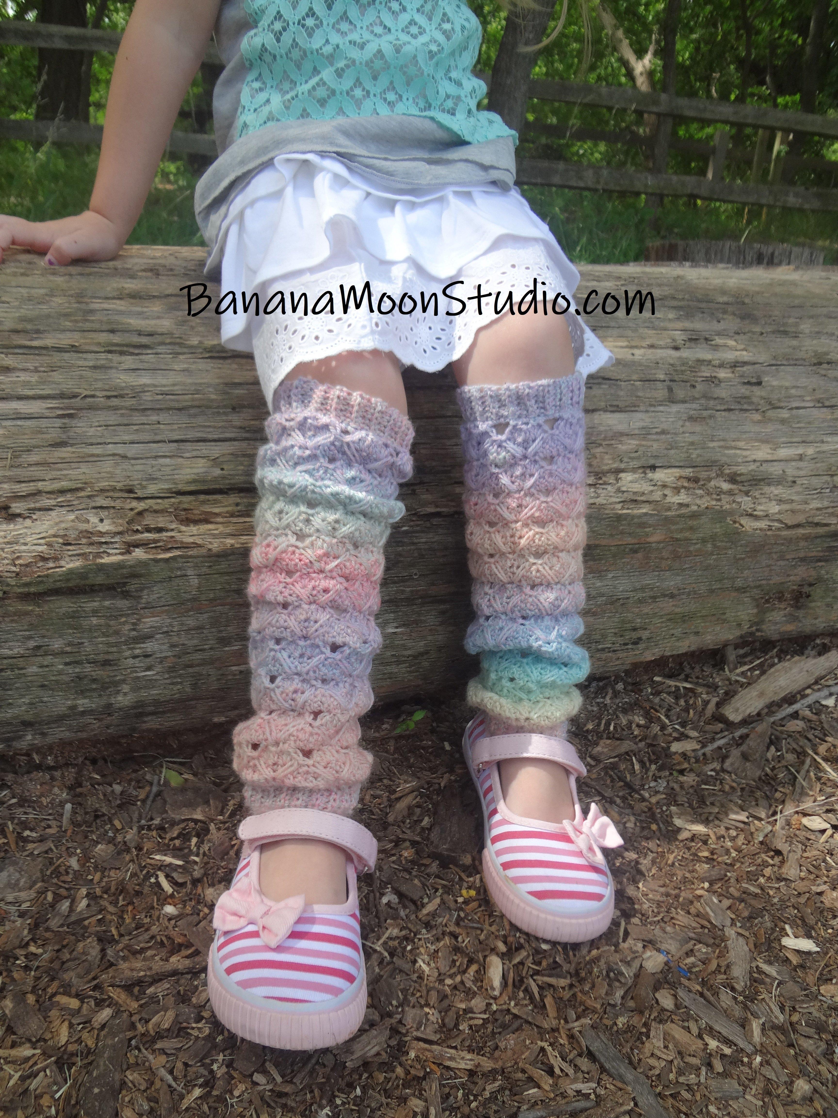 crochet leg warmers pattern child from Banana Moon Studio