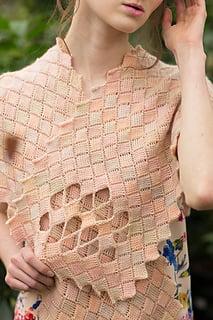 Rosalie Wrap Tunisian entrelac crochet pattern by April Garwood of Banana Moon Studio