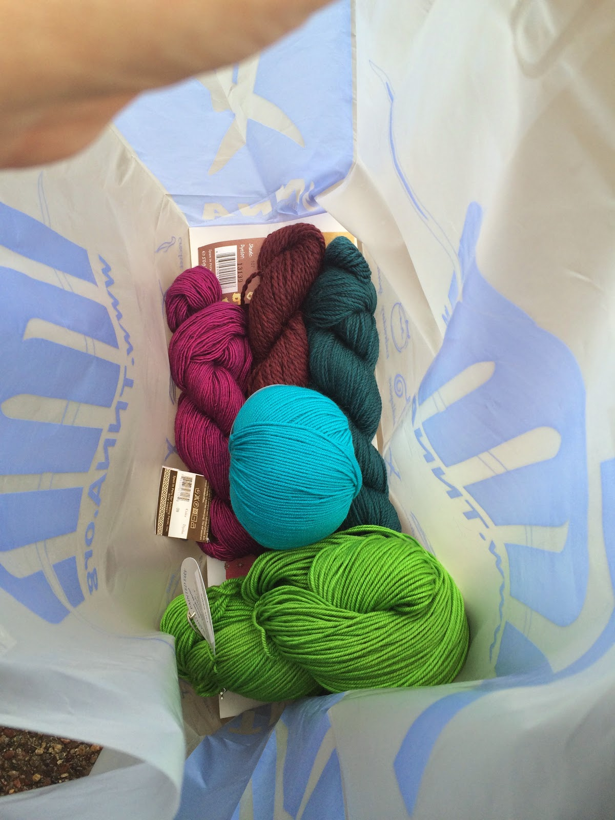 How to become a knit and crochet designer, trade show trip, a travel log by April Garwood of Banana Moon Studio