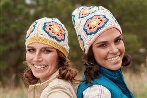 Flowered crochet hat pattern by April Garwood of Banana Moon Studio for Interweave Crochet