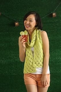 Lace scarf crochet pattern by April Garwood of Banana Moon Studio