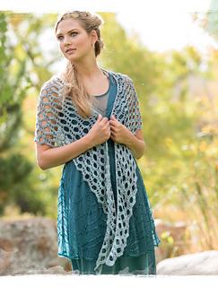 Dover crochet shawl pattern by Sara Kay Hartmann in Poetic Crochet