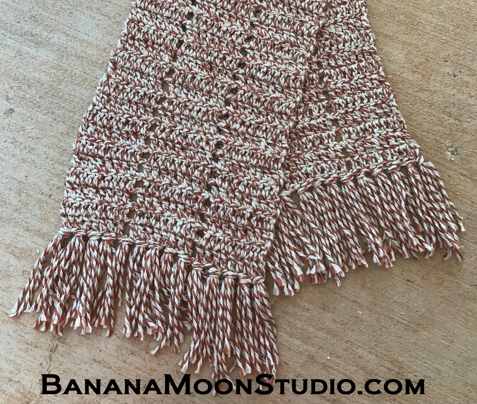 Free Super Scarf Crochet Pattern by April Garwood of Banana Moon Studio