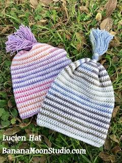 Crochet slouchy hat, Lucien Hat, by April Garwood of Banana Moon Studio