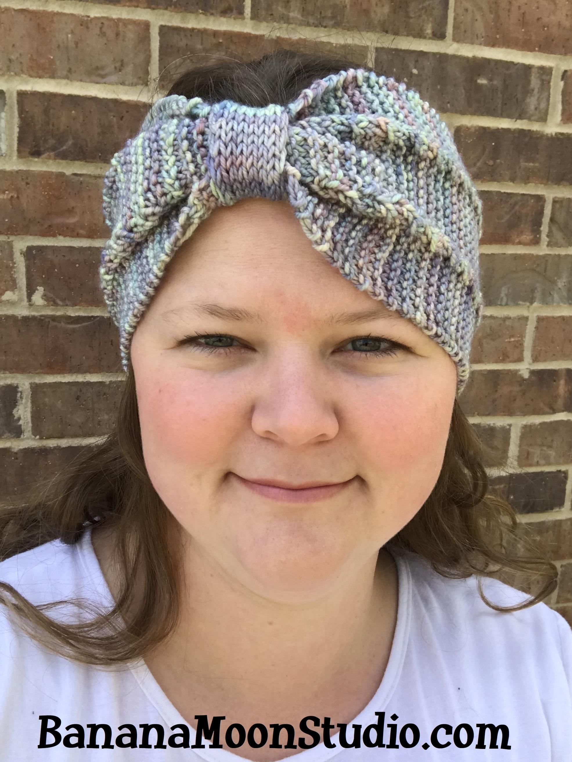 Knit headband pattern by April Garwood of Banana Moon Studio 7