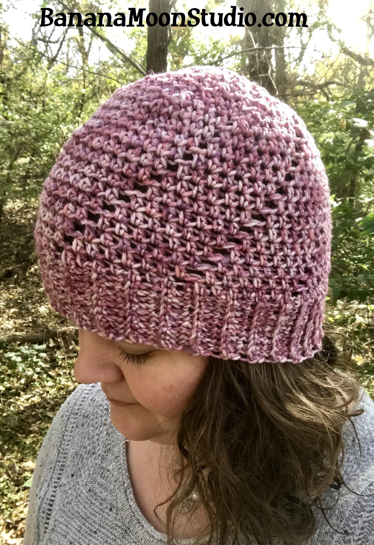 Free crochet hat pattern by April Garwood of Banana Moon Studio