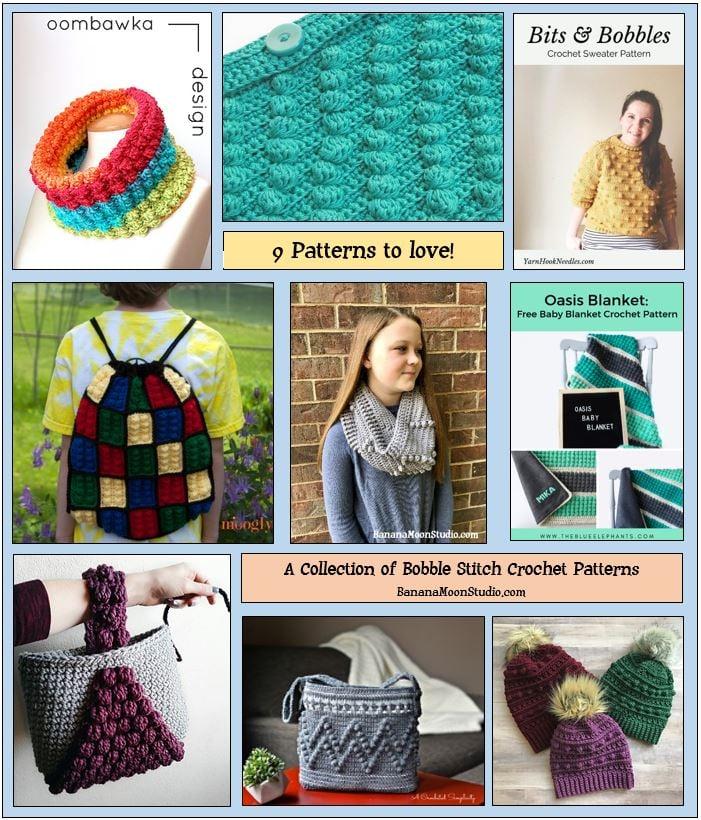 Crochet Bobble Stitch Patterns feature graphic