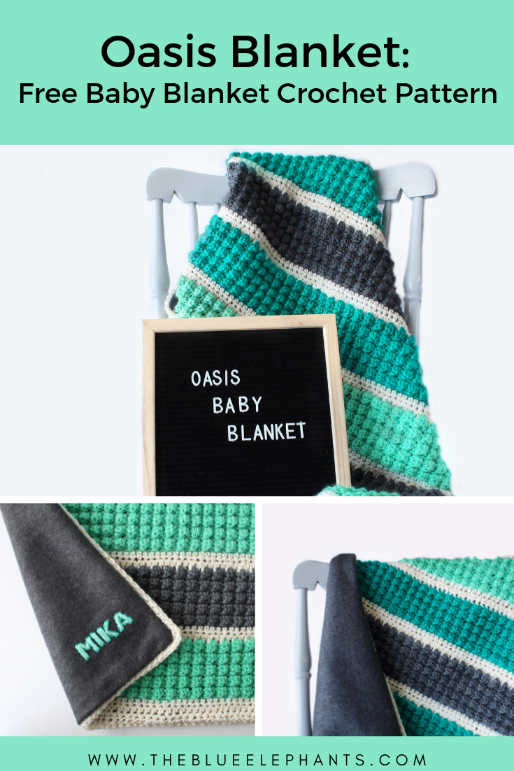 Oasis crochet baby blanket pattern