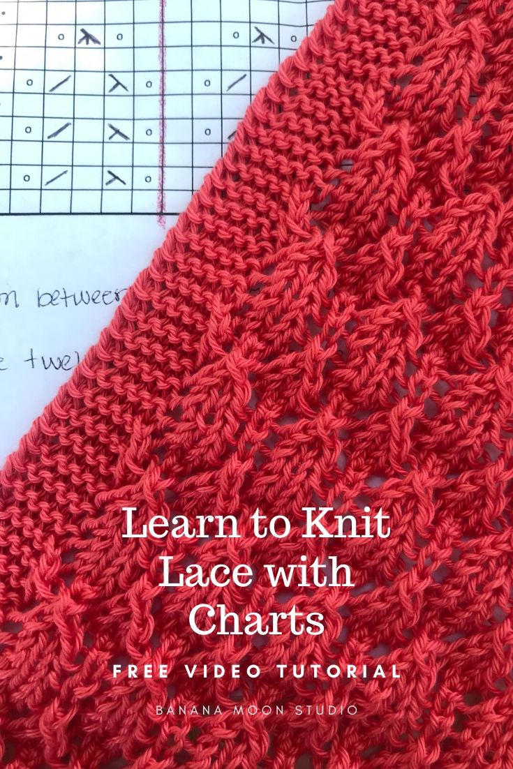 Learn to read a knitting chart with this free video and knitting pattern from Banana Moon Studio.