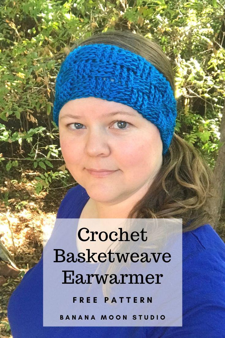 Basketweave Earwarmer Headband Free Crochet Pattern from Banana Moon Studio