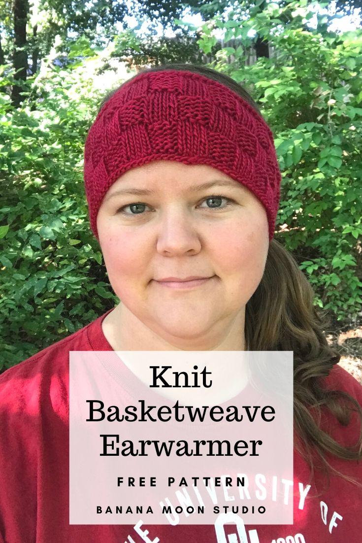 Basketweave Earwarmer Headband Free Knitting Pattern from Banana Moon Studio