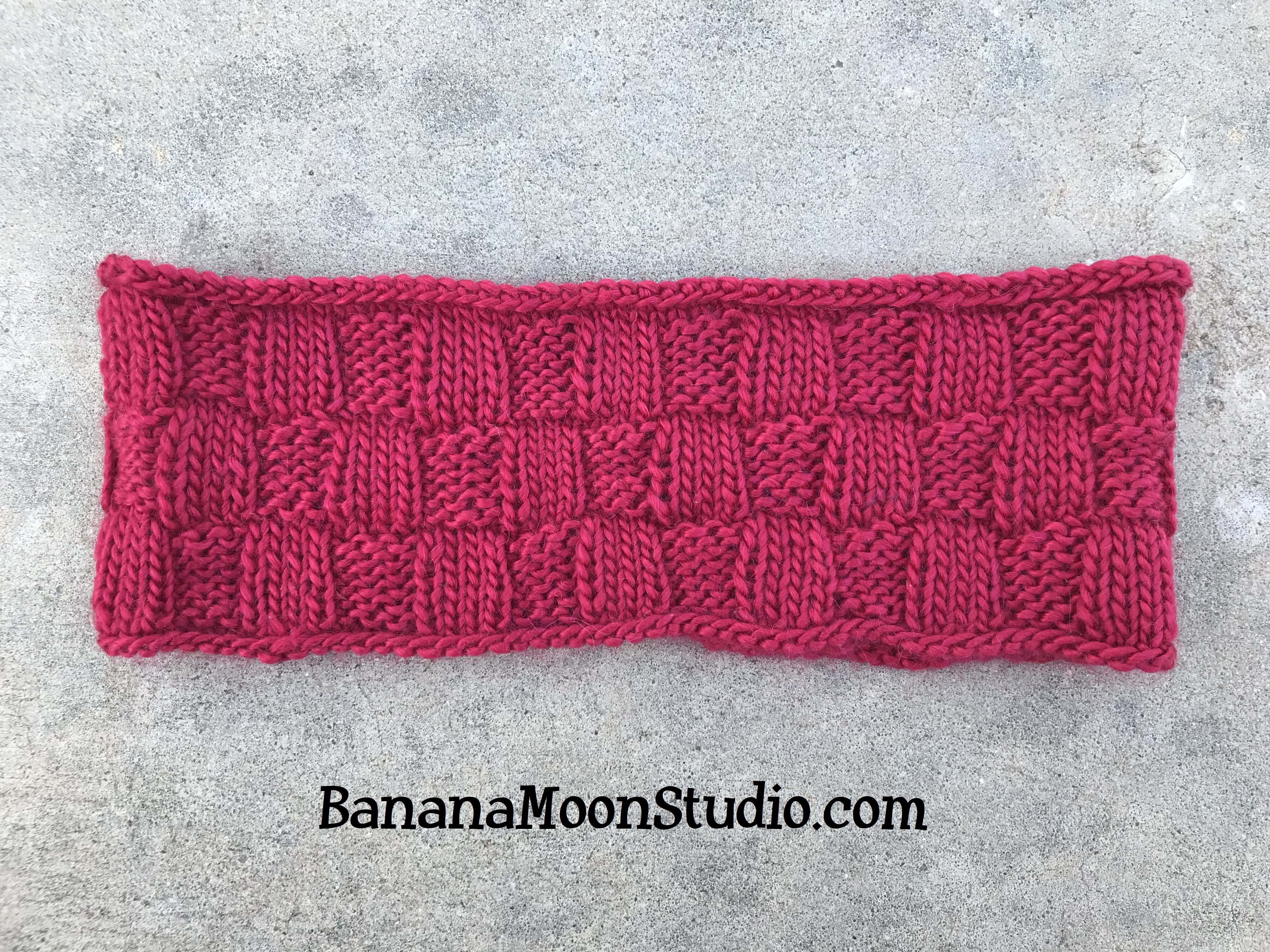 Yukon Headband, a free knitting pattern perfect for fall and football season, from Banana Moon Studio