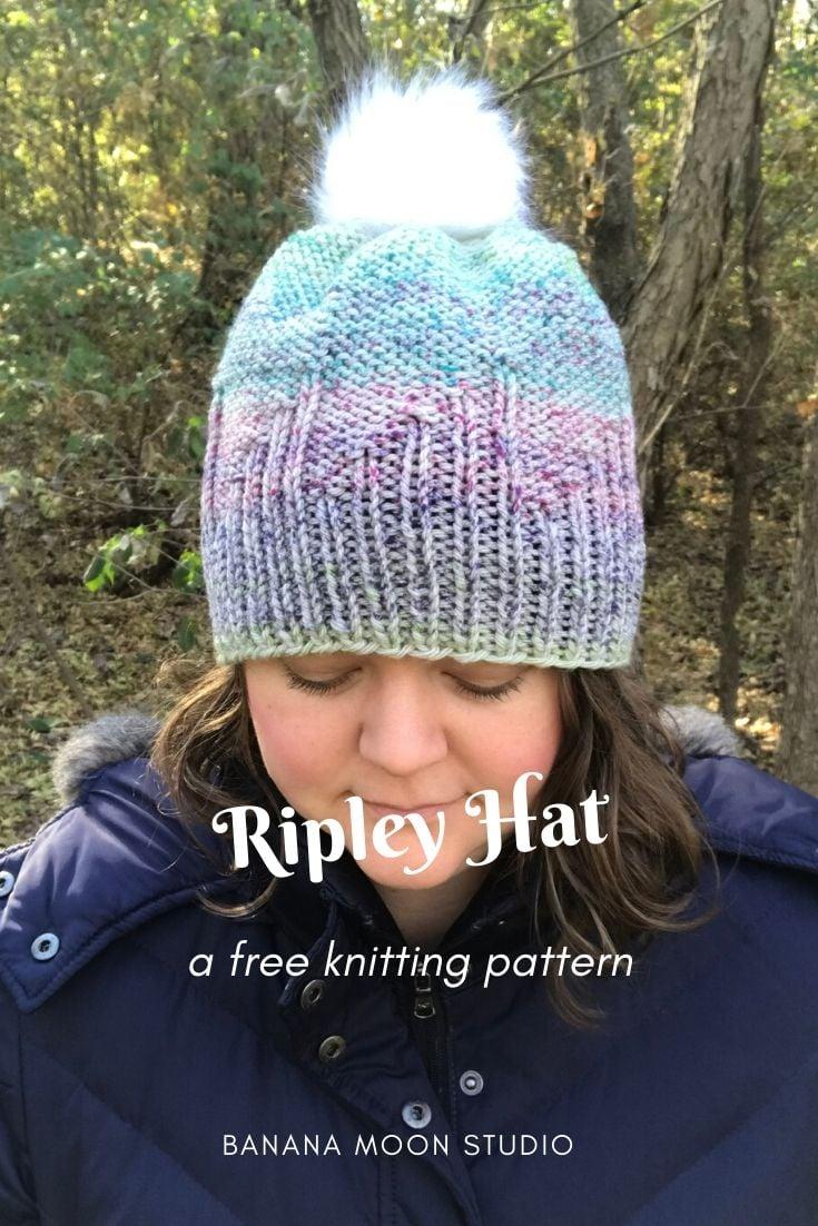 Knit hat free pattern from Banana Moon Studio