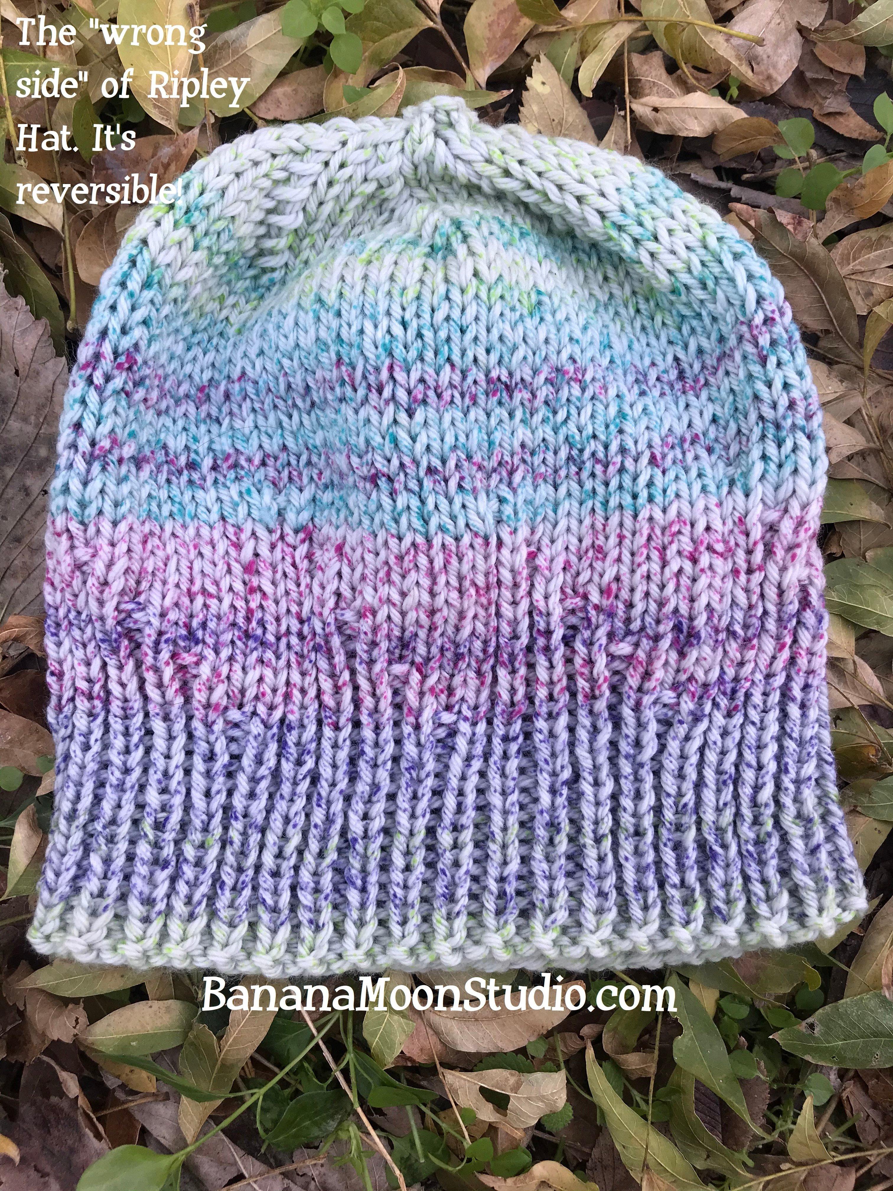 Ripley Hat, a free knit hat pattern from Banana Moon Studio