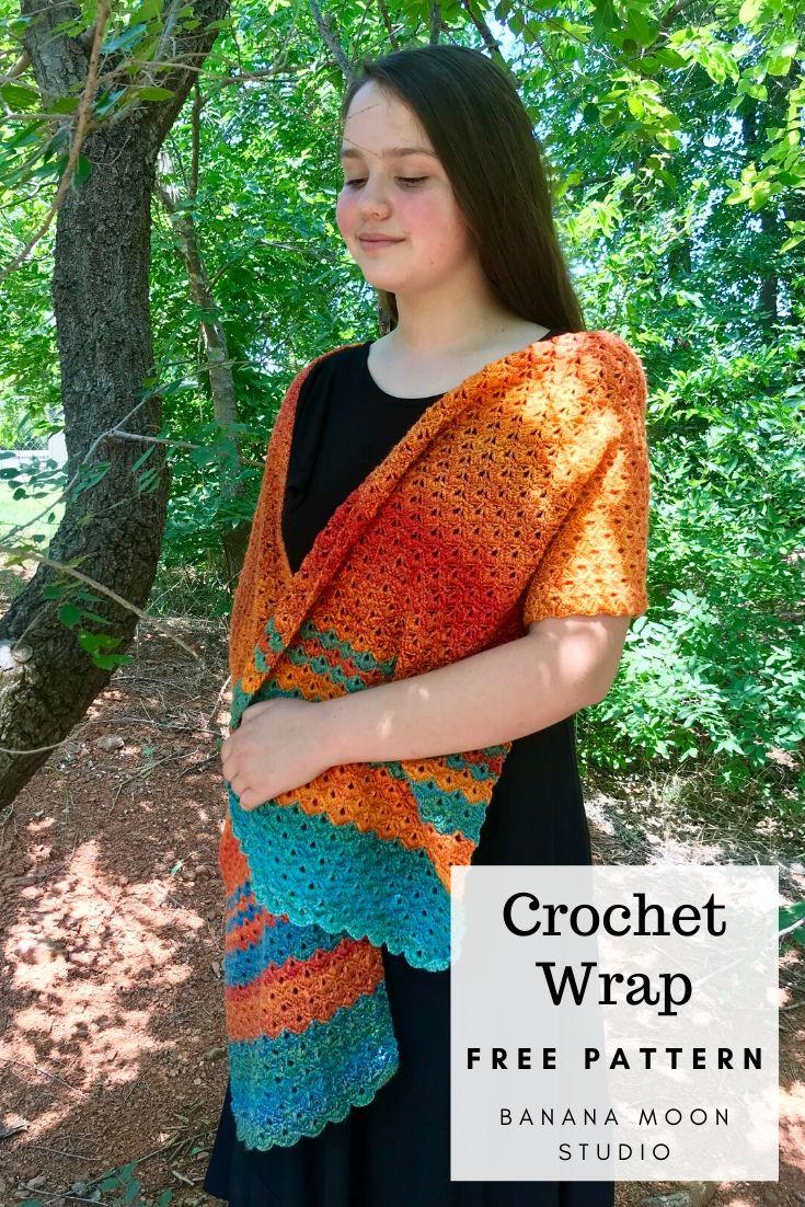 Crochet wrap free pattern from Banana Moon Studio!