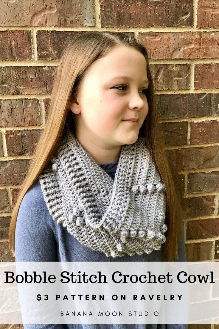 Bobble Stitch Crochet Cowl pattern from Banana Moon Studio!