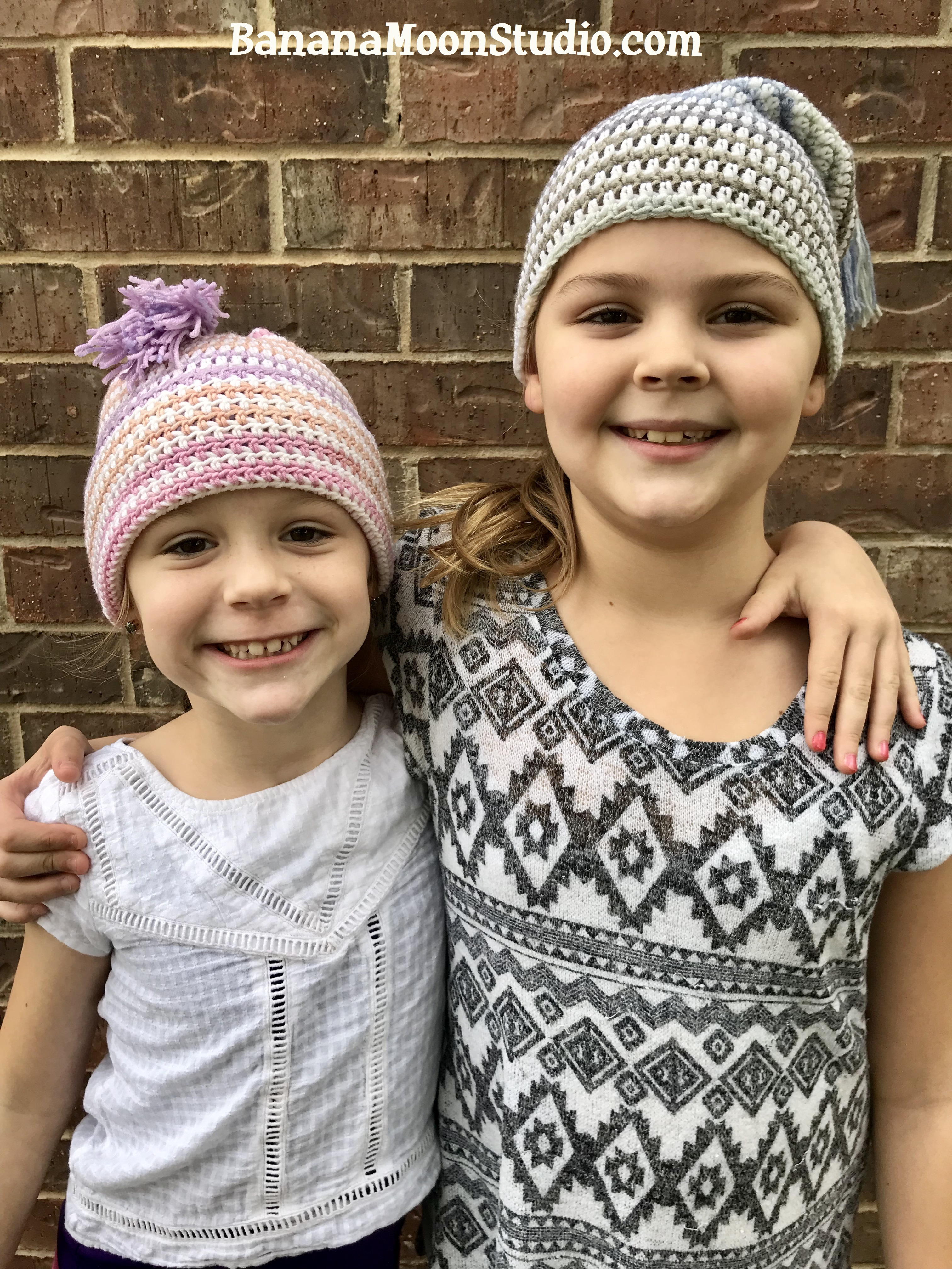 Free crochet pattern slouch hat with tassel from Banana Moon Studio