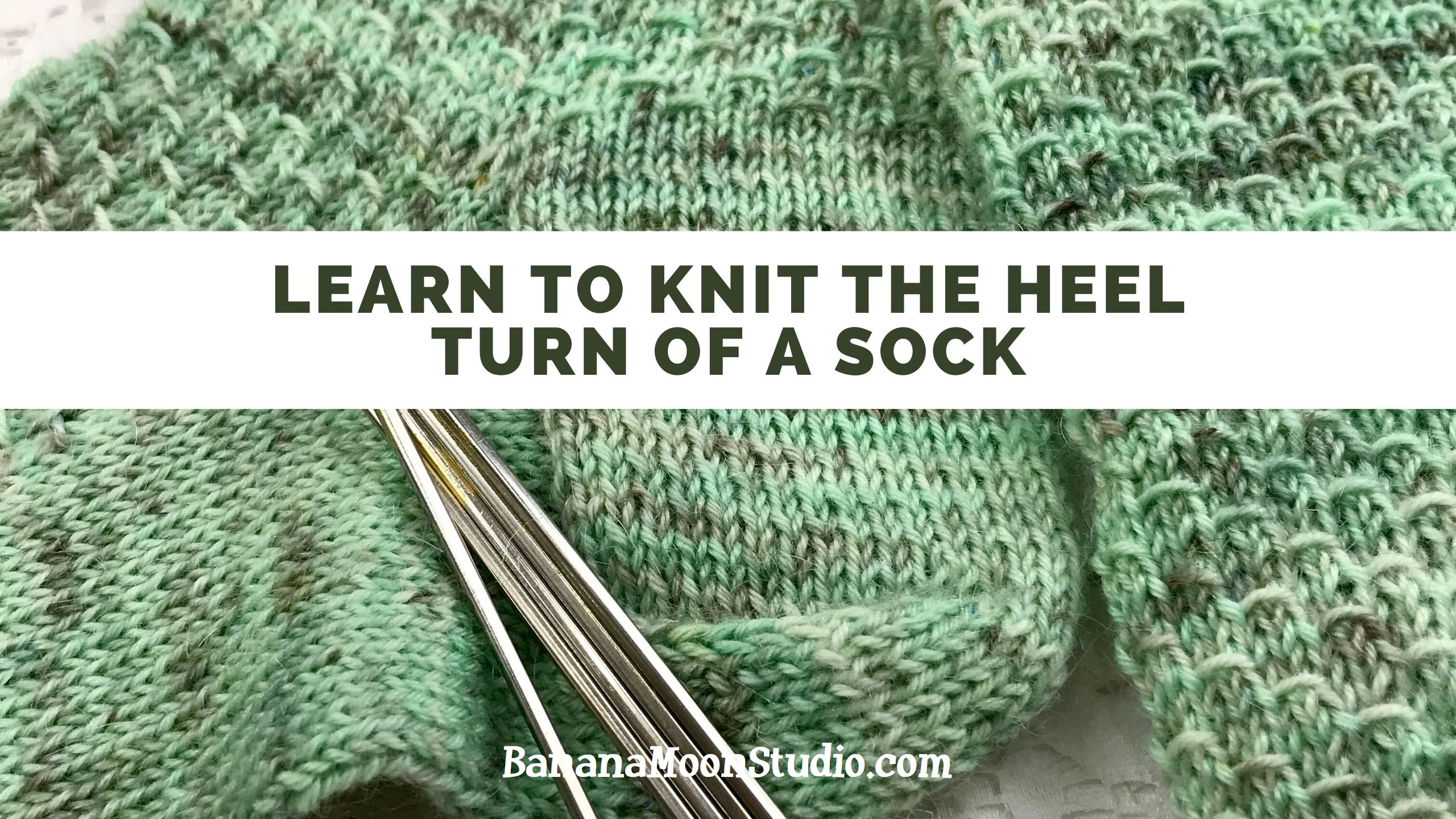 Learn to knit the heel turn of a sock with this video tutorial from Banana Moon Studio! #learntoknitsocks