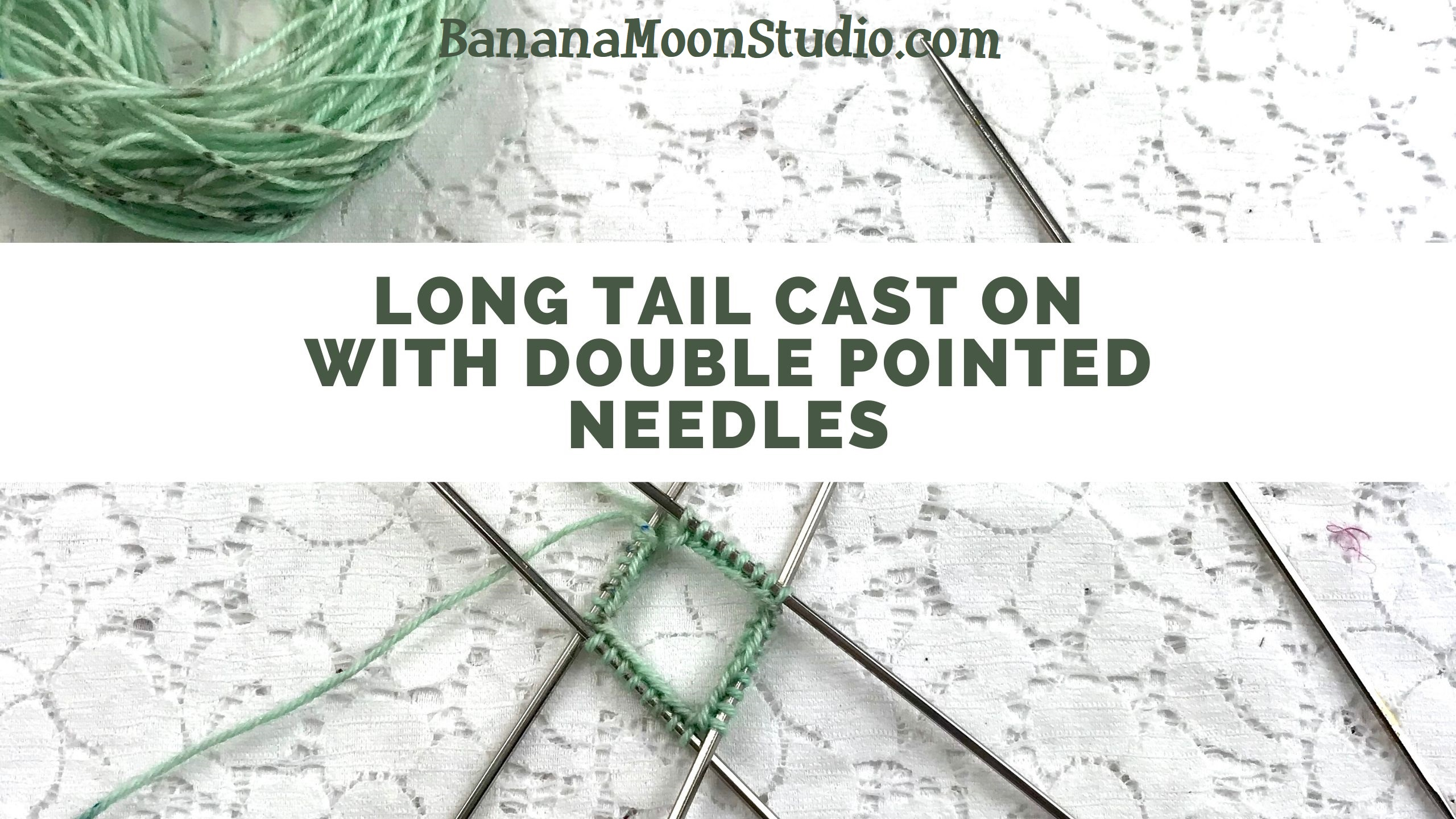 Learn to do a long tail cast on with double pointed knitting needles with this video tutorial from Banana Moon Studio!