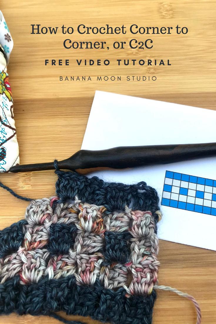 Free C2C tutorial crochet video from Banana Moon Studio.