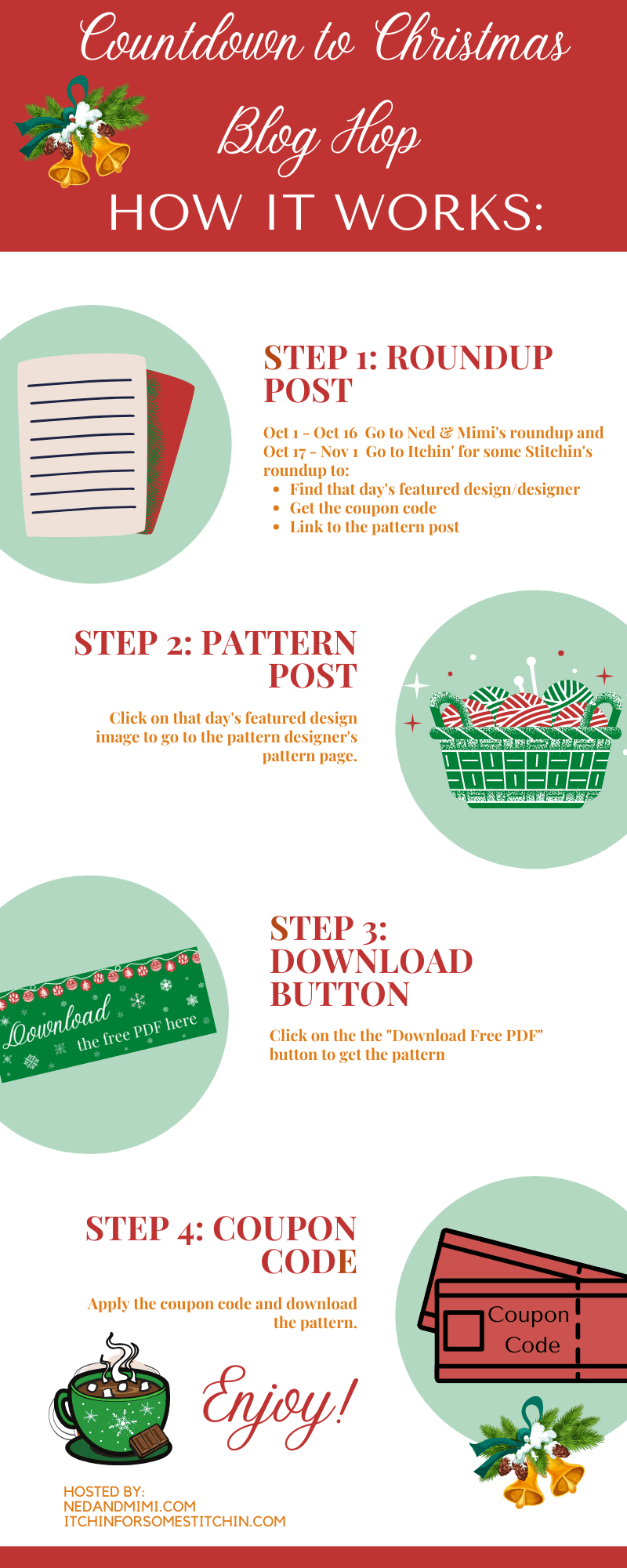 Find bunches of perfect Christmas crochet projects with this fun blog hop!