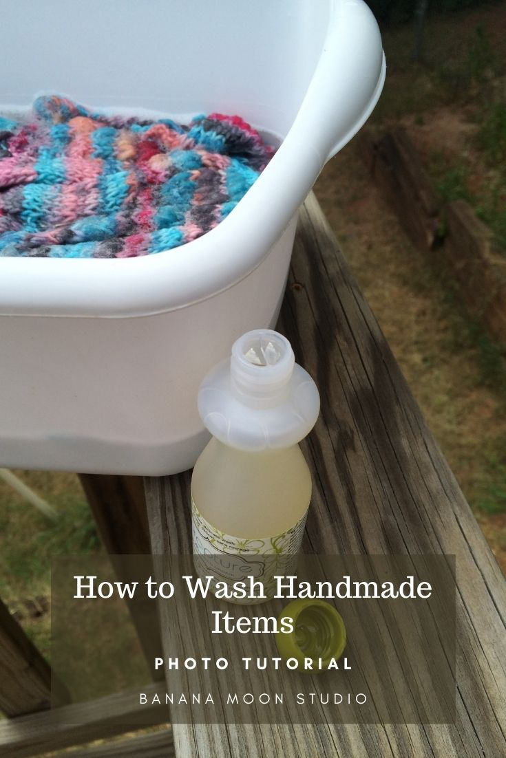 How to wash knitting and crochet items by hand with Eucalan delicate wash