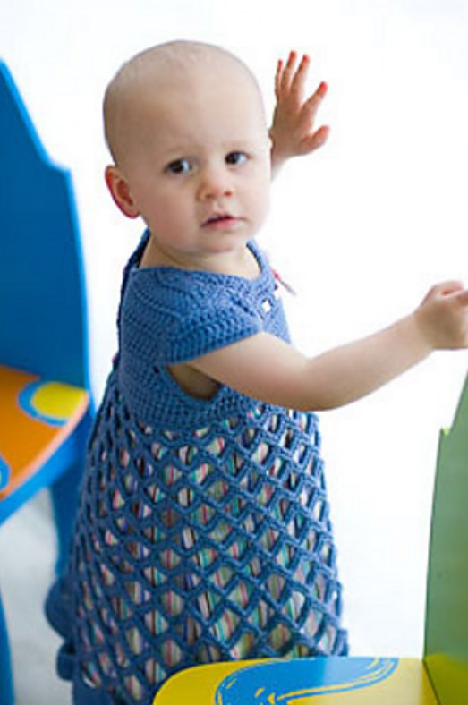 Crochet baby dress pattern from Banana Moon Studio and Interweave Crochet.