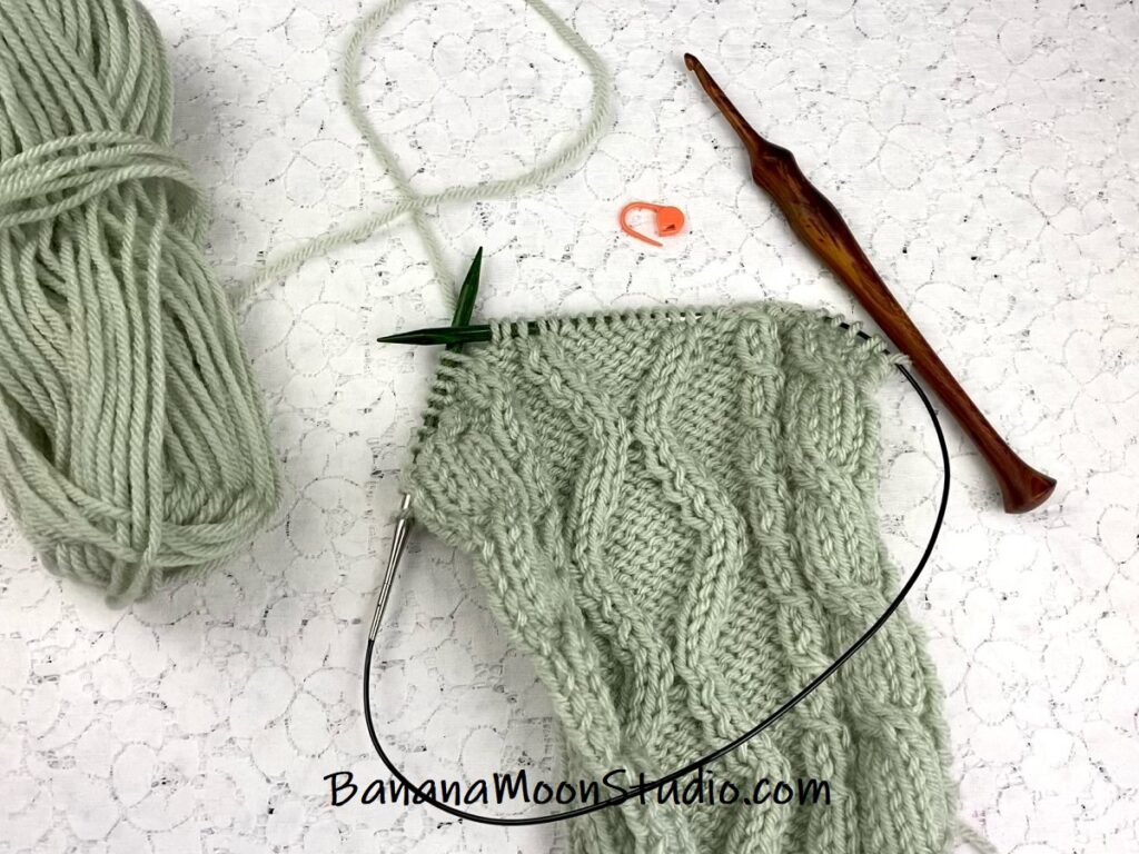 How to fix knitting mistakes with cables. Free video tutorial from Banana Moon Studio.