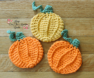 Pumpkin Dishcloth from Krissy's Over The Mountain Crochet.