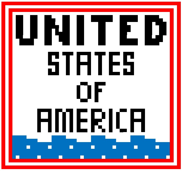 Patriotic crochet graph pattern free from Banana Moon Studio. Text reads: Untied States of America.