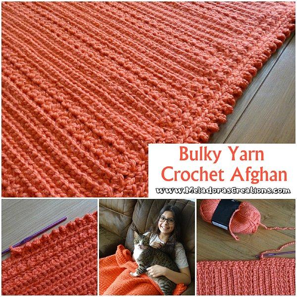 Bulky Yarn Crochet Afghan from Meladoras Creations