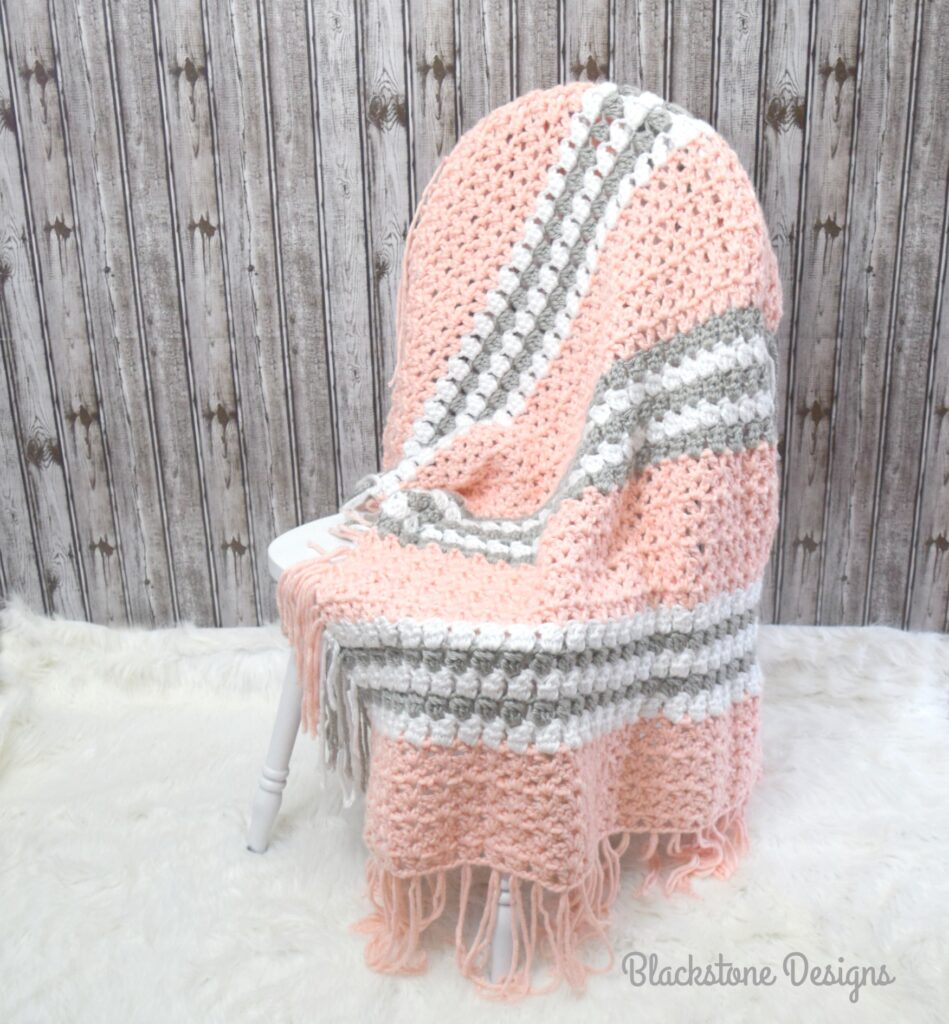 Close to Home Chunky Crochet Blanket from Blackstone Designs.