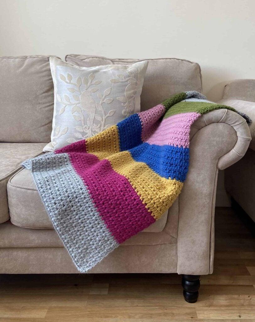 Easy Crochet Cottage Blanket from Blue Star Crochet.