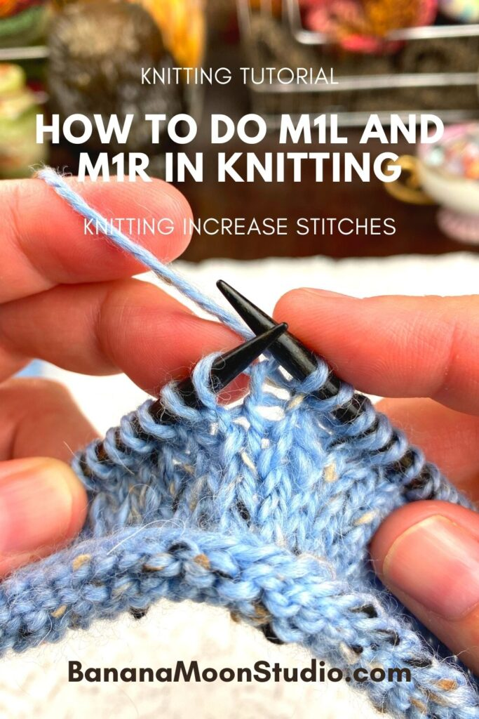How do you m1 in knitting? Video tutorial with Banana Moon Studio.
