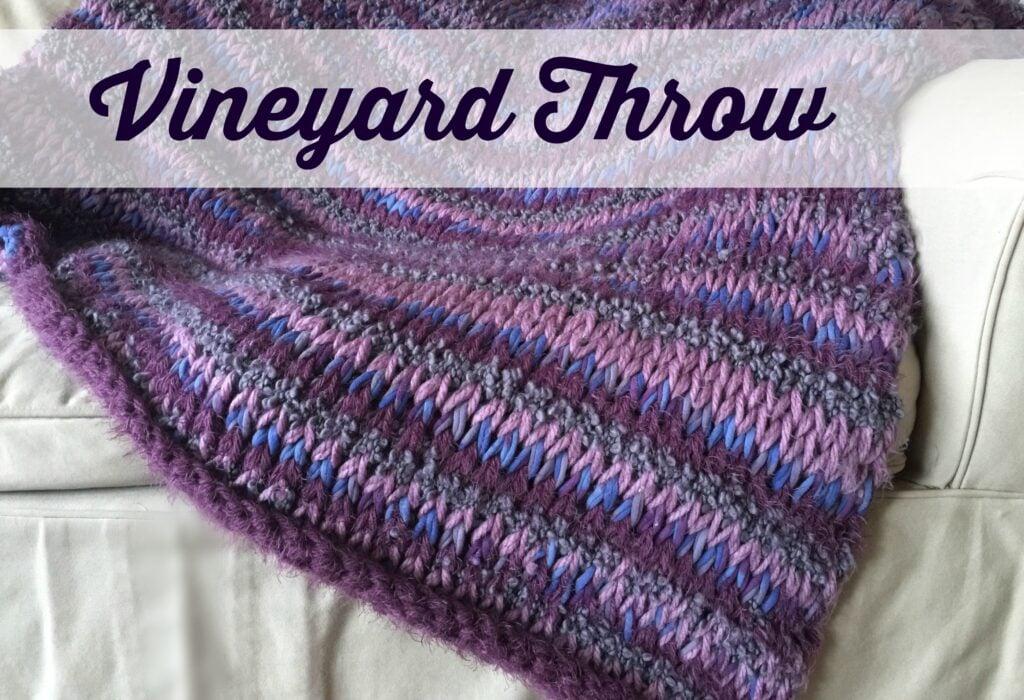 Vineyard Throw from Ambassador Crochet, a tunisian crochet blanket pattern.